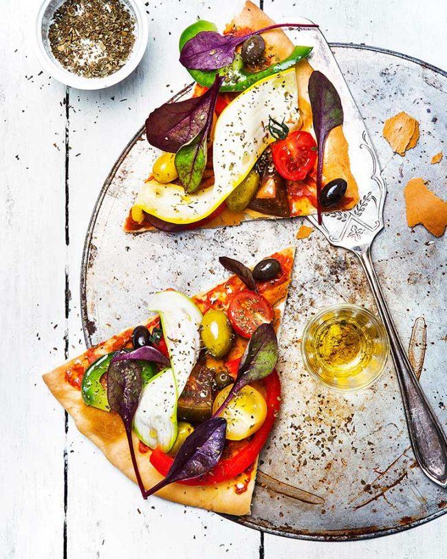 image recette pizza aux légumes croquants